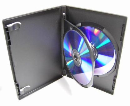 14mm DVD Case with Flip Tray for 2 Discs