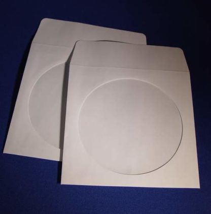 "5""x 5"" Paper Sleeve with Window and Fold Over Flap"
