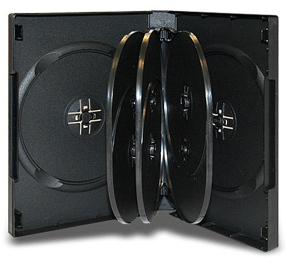 DVD Case with Flip Trays and 33mm spine for 10 discs