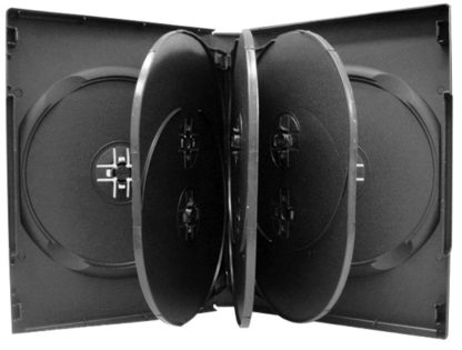 E8BFT27 27mm DVD Case with Flip Trays (x3) for 8 Discs