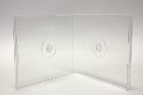 10.4mm CD Poly Case for Two (2) Discs, Super Clear
