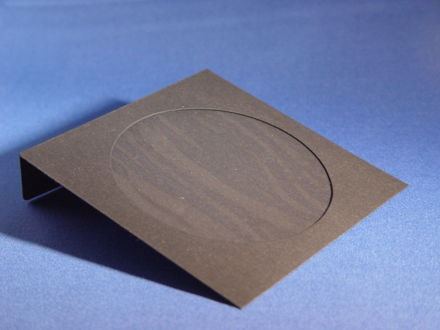 5x5 inch BLACK Paper Envelope with Window and Folder Over Flap