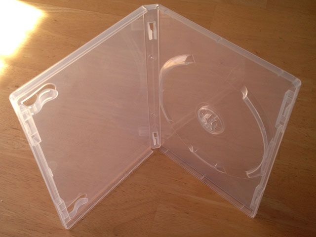 PFC01 - 15mm DVD Case for Single Disc in Clear