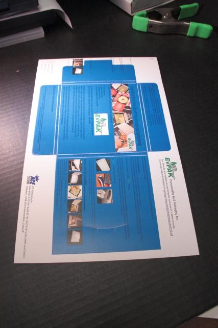 Print directly onto the EvPAK Personal Die-Cut Sheet