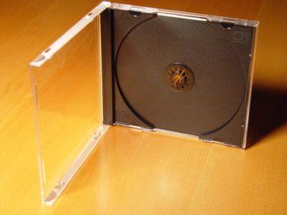 CD Jewel Case (Clear) + CD Tray Insert (Black)