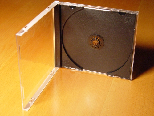 CD Jewel Case (Clear) + CD Tray Insert (Black)