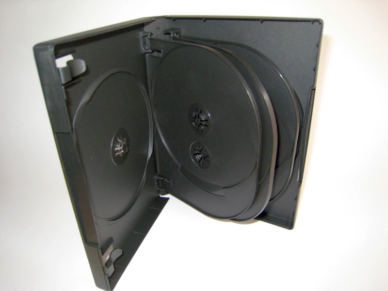 27mm DVD Case for Eight (8) Discs with Flip Trays (x3)