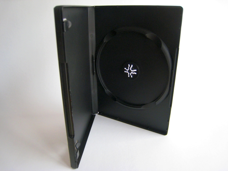 SSDB1 - 14mm DVD Case for Single Disc -- Automation Ready